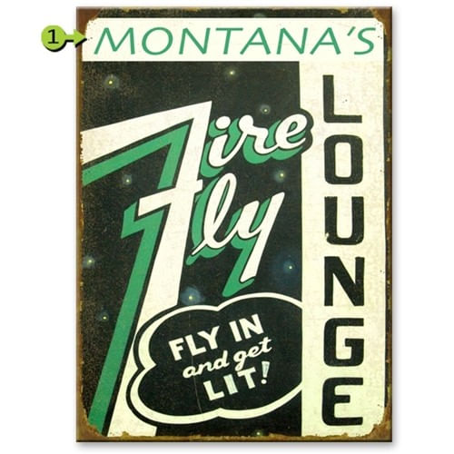 Fire Fly Personalized Aviation Bar Sign