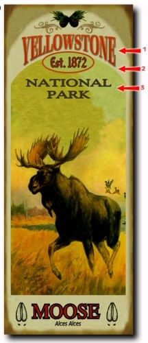 Magestic Moose Personalized Cabin Sign