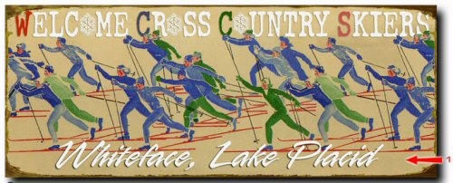 Welcome Cross Country Skiers Wood  or Metal Personalized Sign