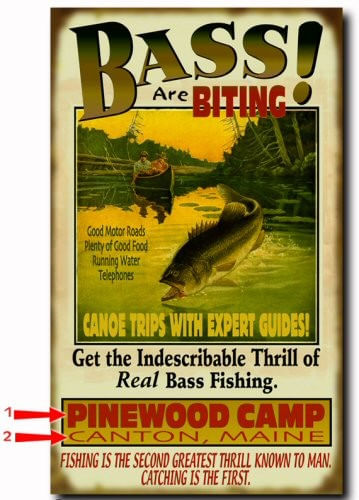 Bass are Biting Personalized Fishing Cabin Sign
