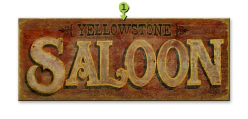 Rustic Vintage-Style Personalized Saloon Bar Sign