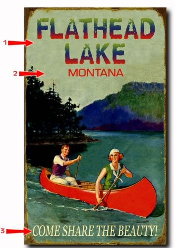 Retro Canoeing Personalized Lake Cabin Sign
