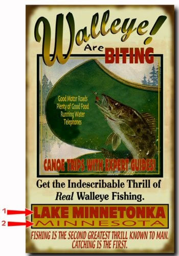 Walleye are Biting Personalized Fishing Sign