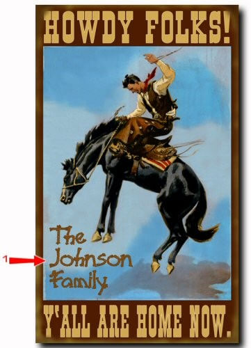 Howdy Folks Western Style Personalized Cabin or Ranch Sign