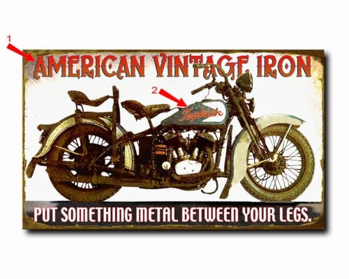 American Vintage Iron Wood or Metal Personalized Sign