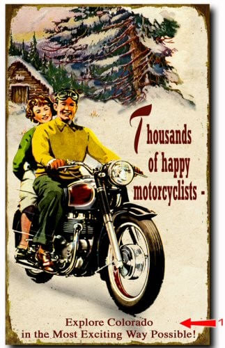 Happy Motorcyclists Wood or Metal Personalized Sign