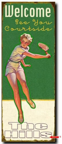 Tennis (Female) Wood or Metal Personalized Sign