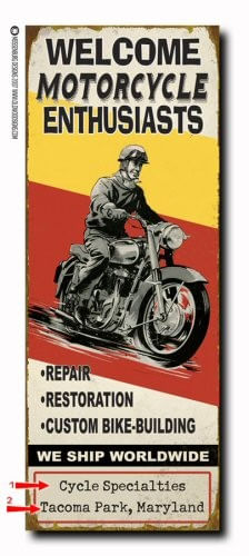Motorcycle Enthusiasts Wood or Metal Personalized Sign
