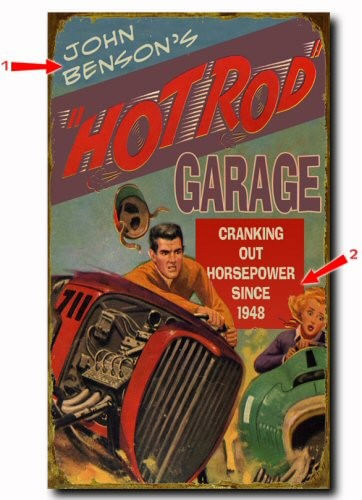 Hot Rod Garage Personalized Sign