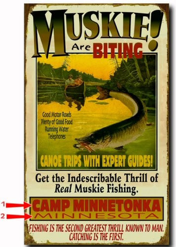 Muskie are Biting Personalized Fishing Cabin Sign