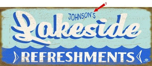 Lakeside Refreshments Personalized Cabin or Bar Sign