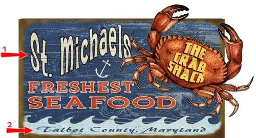 Crab Shack Cut Up Personalized Wood Sign