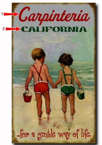 Gentle Way of Life Children Playing Personalized Beach Sign