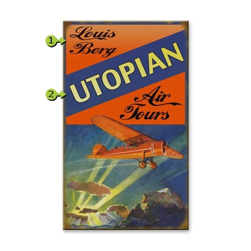 Vintage Air Tours Personalized Aviation Sign