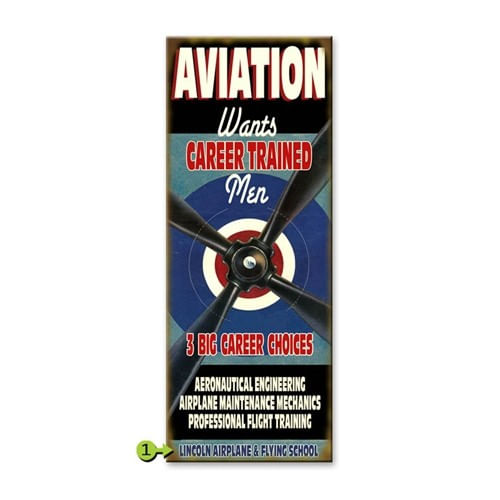 Aviation Jobs Personalized Sign