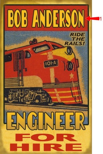 Train Engineer Personalized Ride the Rails Sign