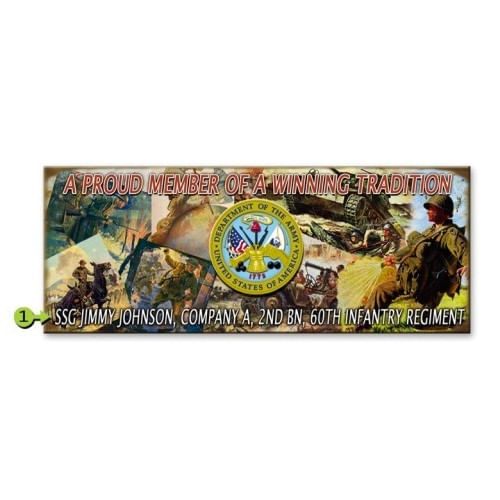 Army Wood or Metal Personalized Sign