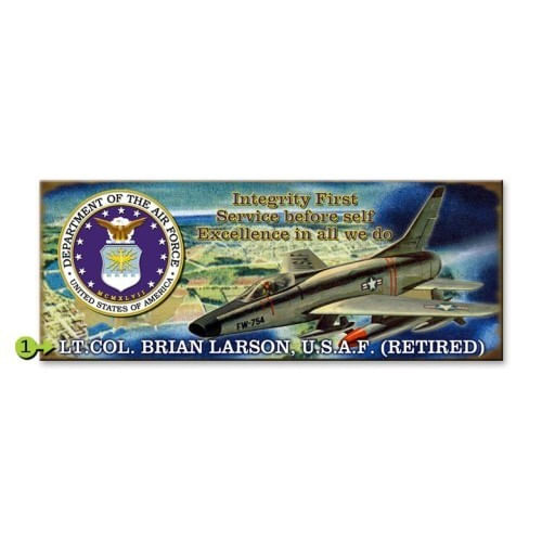 Air Force Wood or Metal Personalized Sign