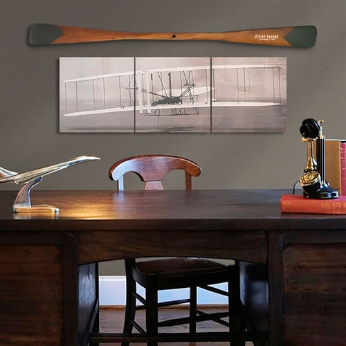 55 Inch Wright Flyer Triptych and Propeller Set