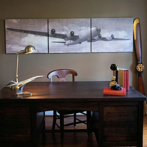 B-29 Bomber Wooden Triptych