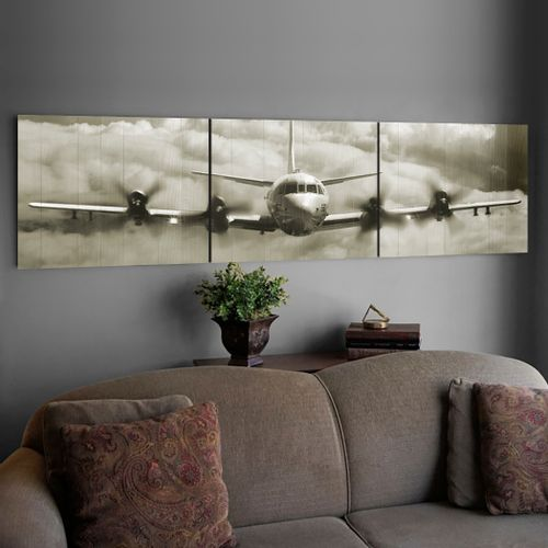 P-3 Orion Wood Triptych