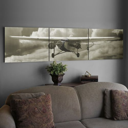 Ford Tri-Motor Fly By Wood Triptych