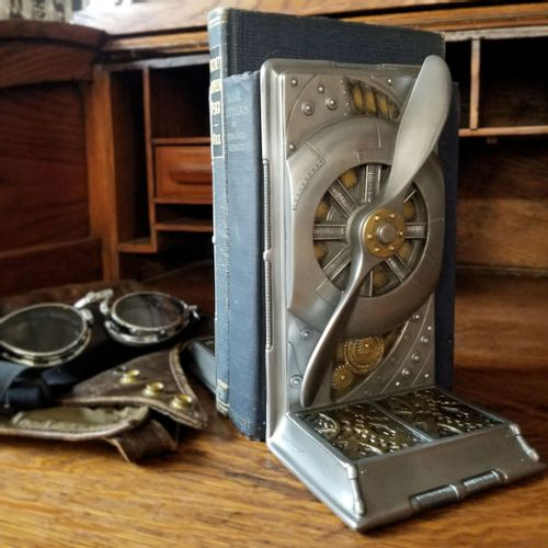 Pewter Finish Propeller Bookends