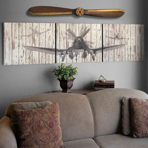 Rustic Corsair Aviation Triptych