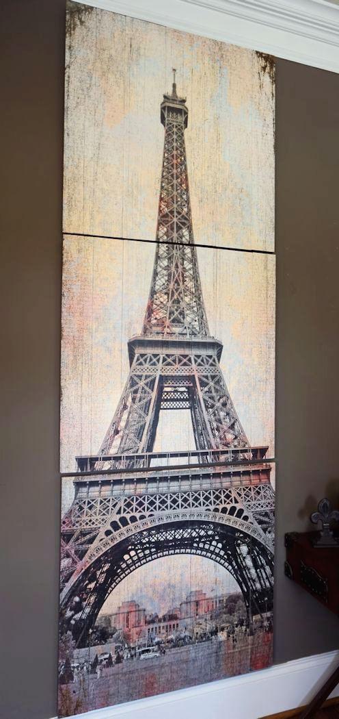 Eiffel Tower Historic View Triptych