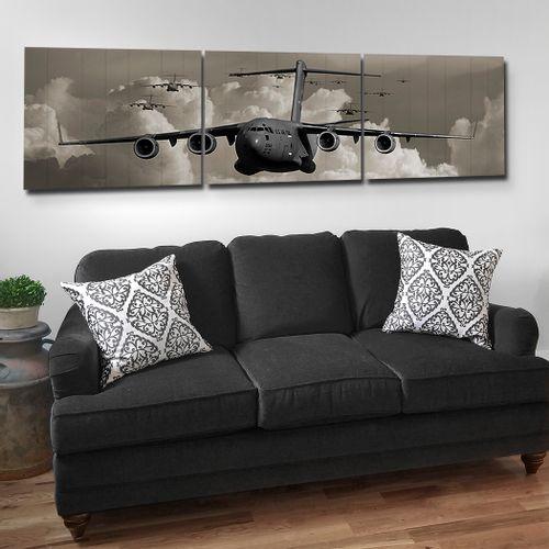 C-17 Wood Triptych