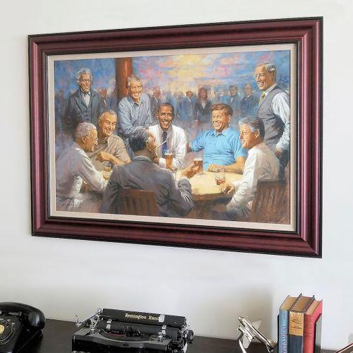 The Democratic Club Framed Limited Edition Canvas