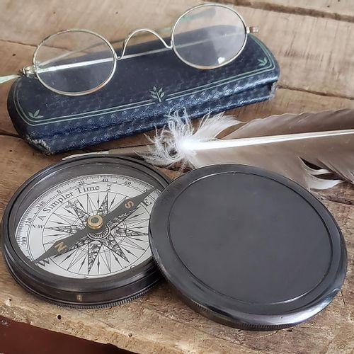 Antiqued Brass Compass