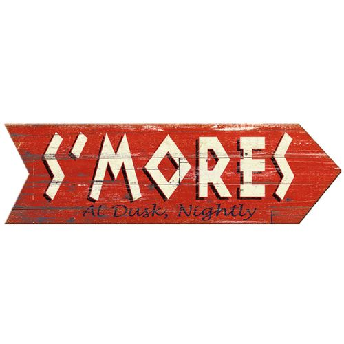 S'mores Personalized Wood Arrow Sign