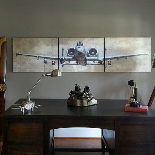 A-10 Warthog Wooden Triptych