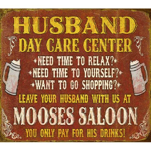 Husband Day Care Center Personalized Bar Sign