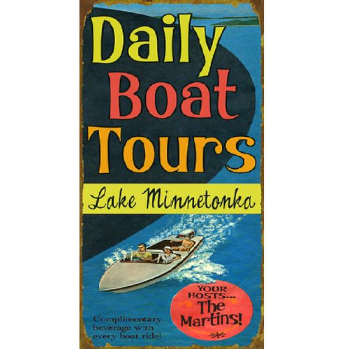 Daily Boat Tours Personalized Sign