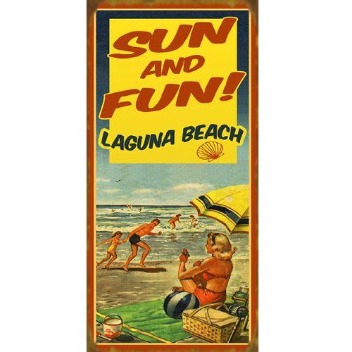 Sun and Fun Retro Personalized Beach Sign