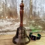 Engraved-LAST-LAP-Antiqued-Brass-Hand-Bell-8771