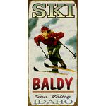 Woman-Skiing-Personalized-Cabin-or-Chalet-Sign-3323