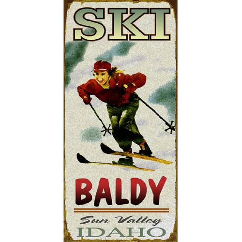 Woman Skiing Personalized Cabin or Chalet Sign