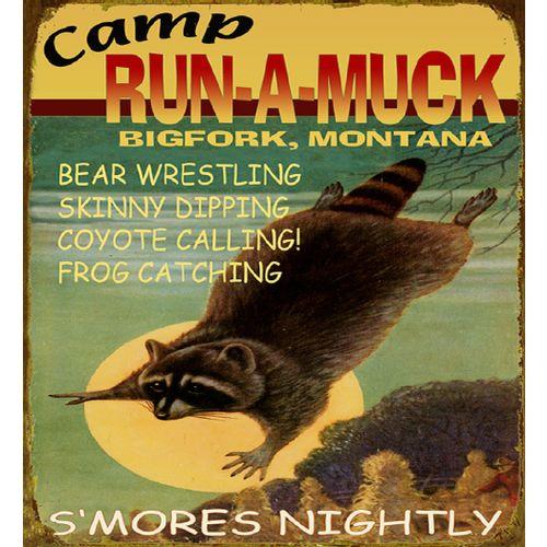 Camp Run-A-Muck Personalized Cabin Sign