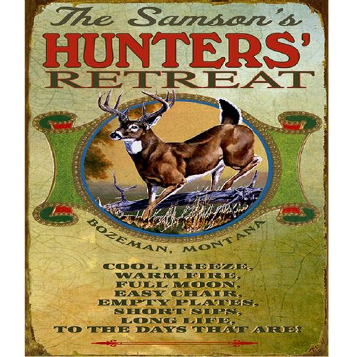 Hunters Toast (Deer) Personalized Cabin Sign