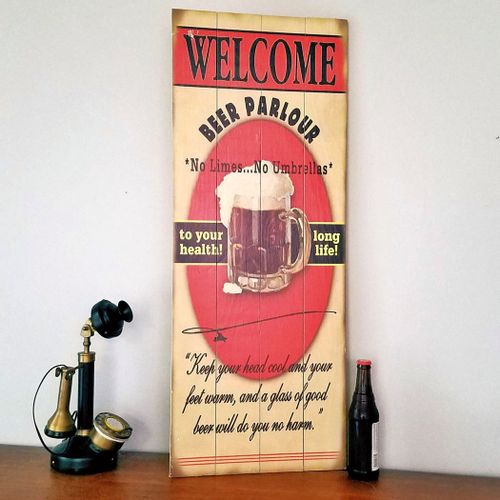 Beer Quotes Personalized Bar Sign