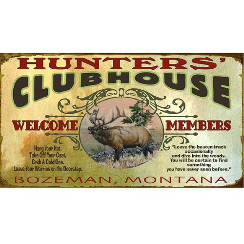 Clubhouse (Elk) Personalized Hunting Cabin Sign