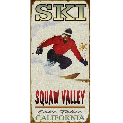 Ski (Man) Wood or Metal Personalized Sign