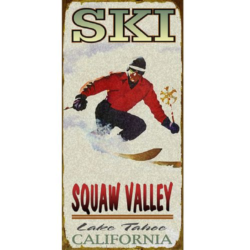 Ski (Man) Wood or Metal Personalized Sign