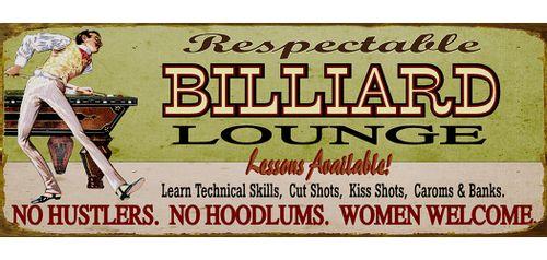 Retro Billiard Lounge Personalized Sign