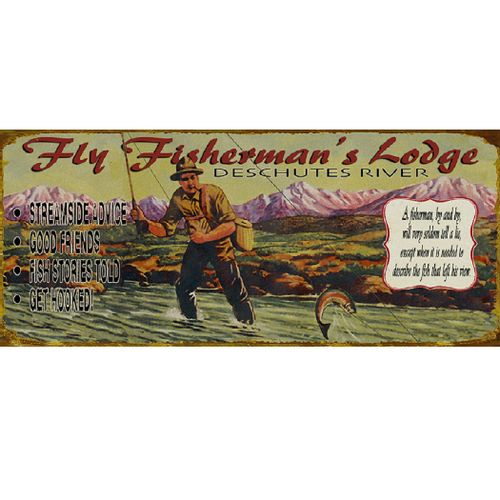 Fly Fishing Wood or Metal Personalized Sign