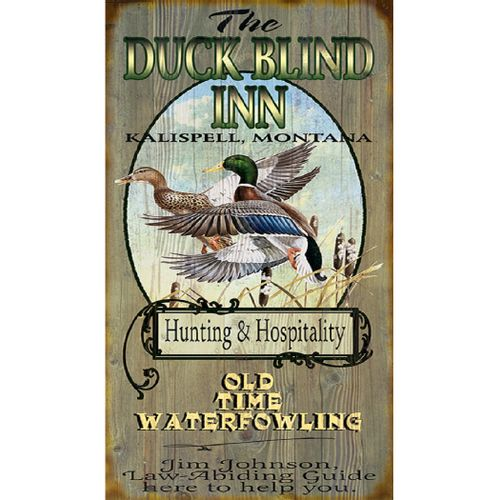 Duck Blind Inn Wood or Metal Personalized Sign