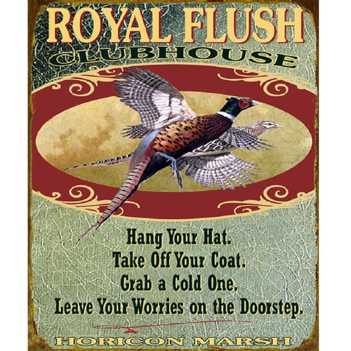 Royal Flush Clubhouse Wood or Metal Personalized Sign